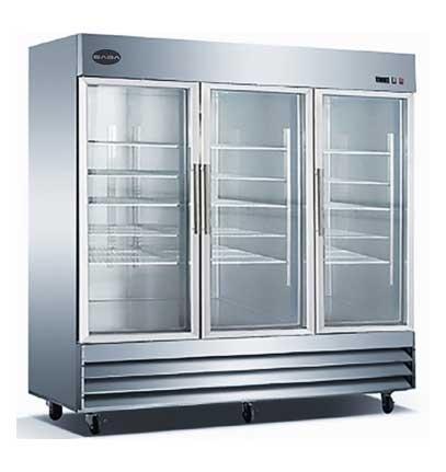 Db Restaurant Supply Saba S 72fg Three Glass Door Reach In Freezer